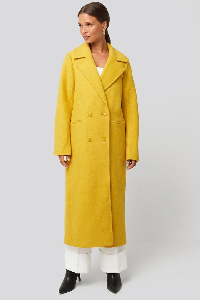Dwurzędowy płaszcz Yellow