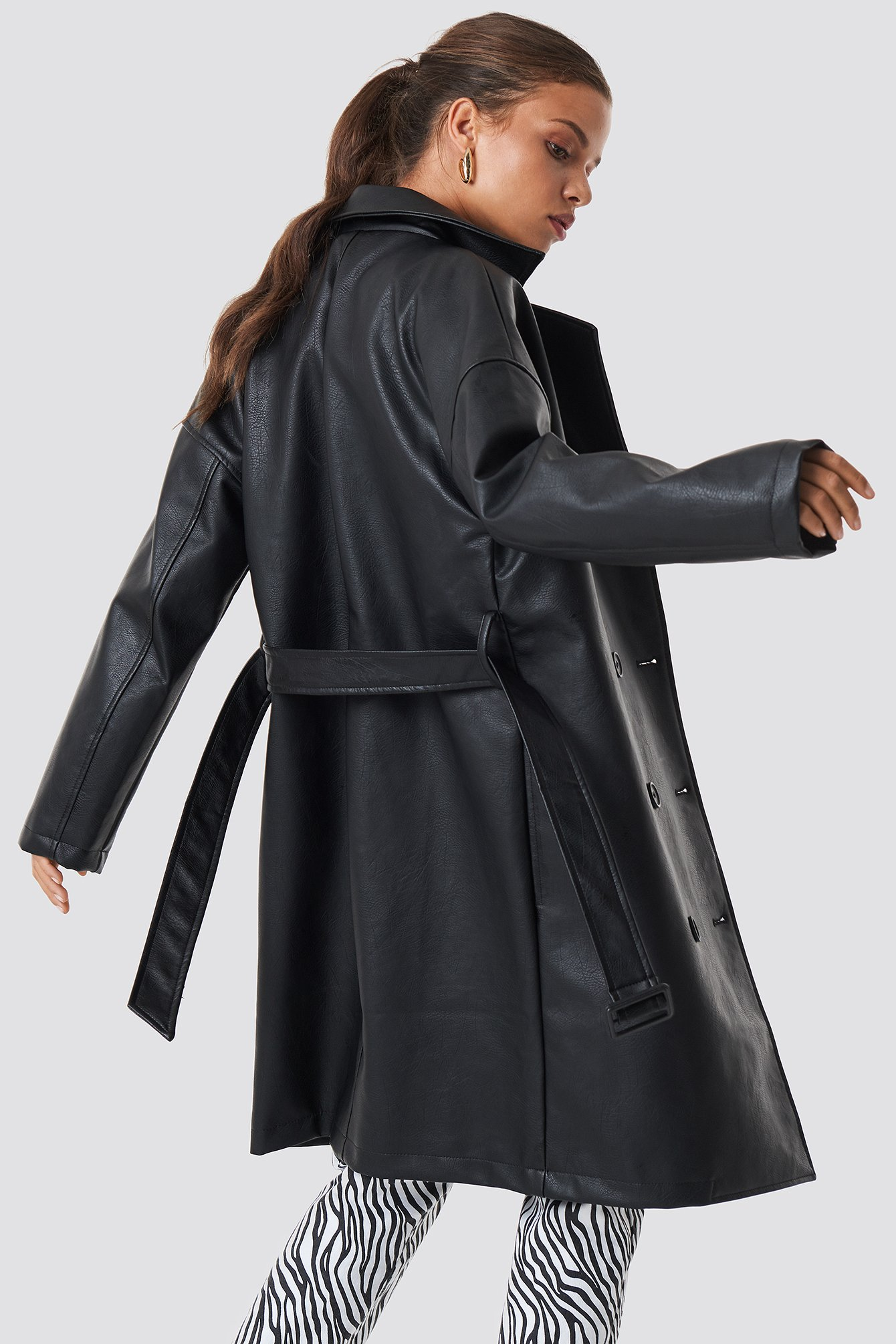 Double Breasted PU Coat NA-KD.COM