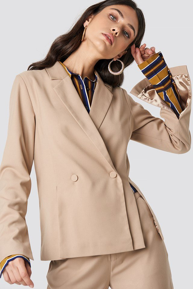 Double Breasted Slit Blazer NA-KD Classic