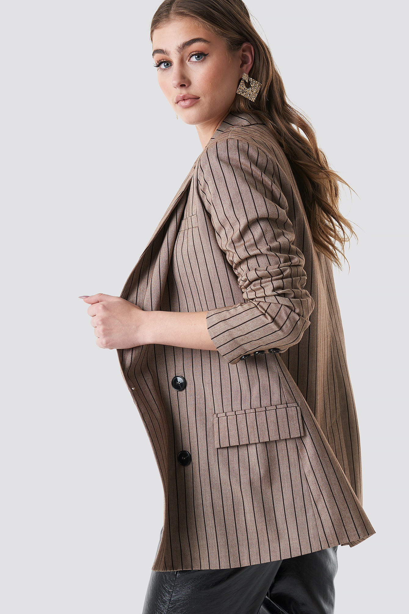 Double Breasted Striped Blazer NA-KD.COM