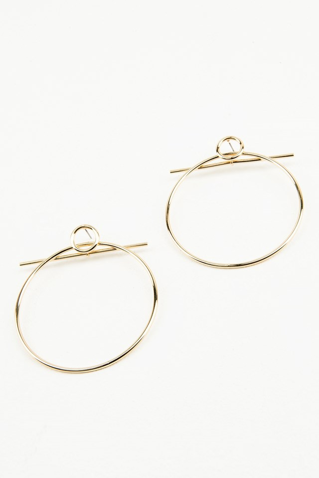 Double Circle Earring Gold