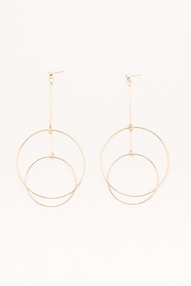 Double Circles Earring Gold