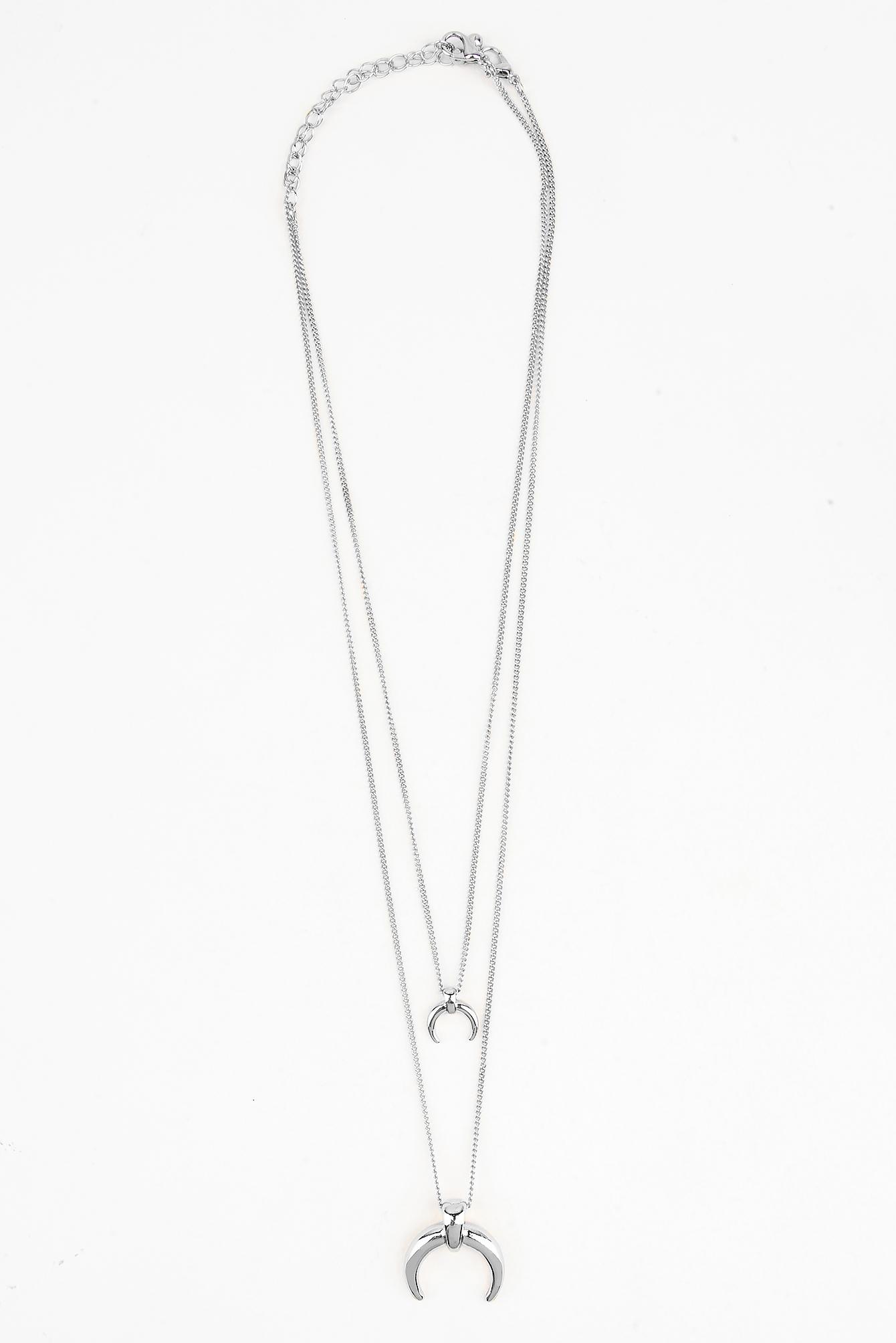 Double Crescent Pendant Necklace NA-KD.COM