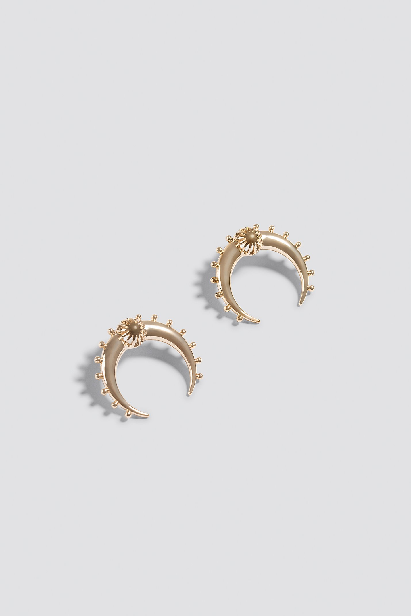 Double Crescent Stud Earrings NA-KD.COM