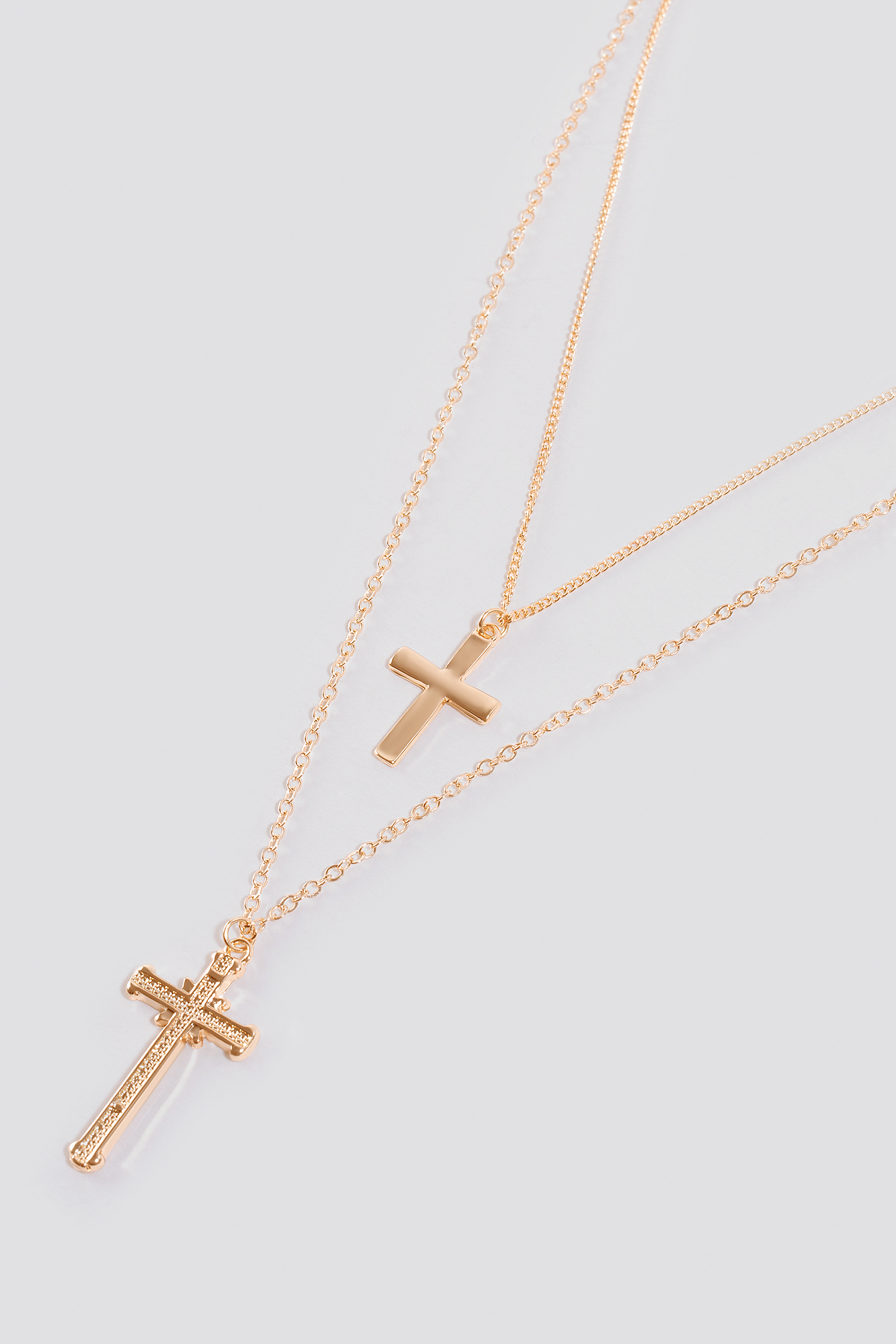 Double Cross Necklace NA-KD.COM