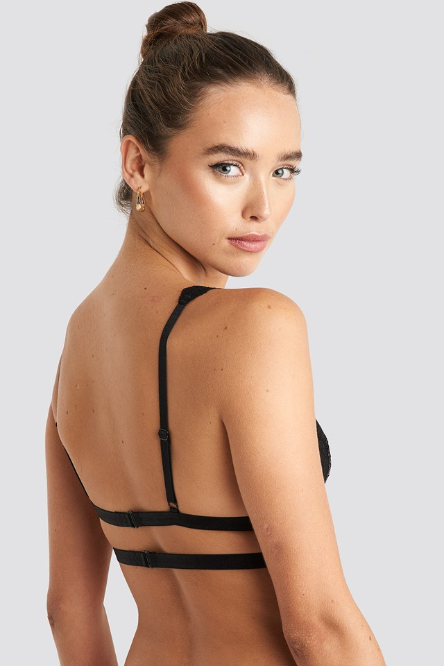 Double Elastic Lace bra Black