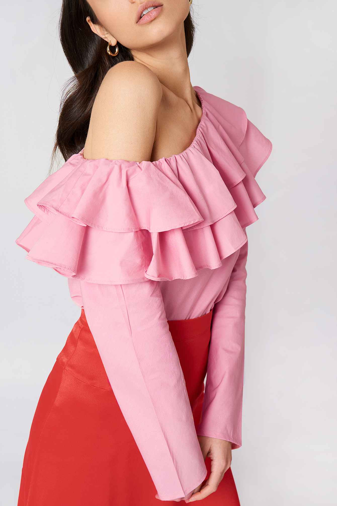 Double Frill Asymmetric Top NA-KD.COM