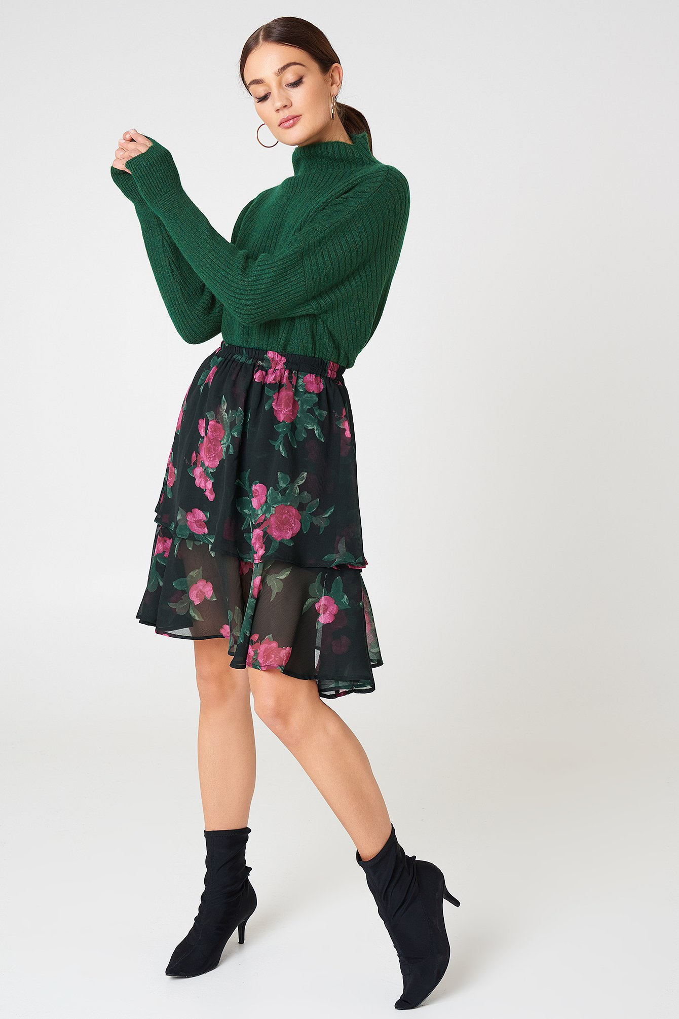 Double Frill Skirt NA-KD.COM