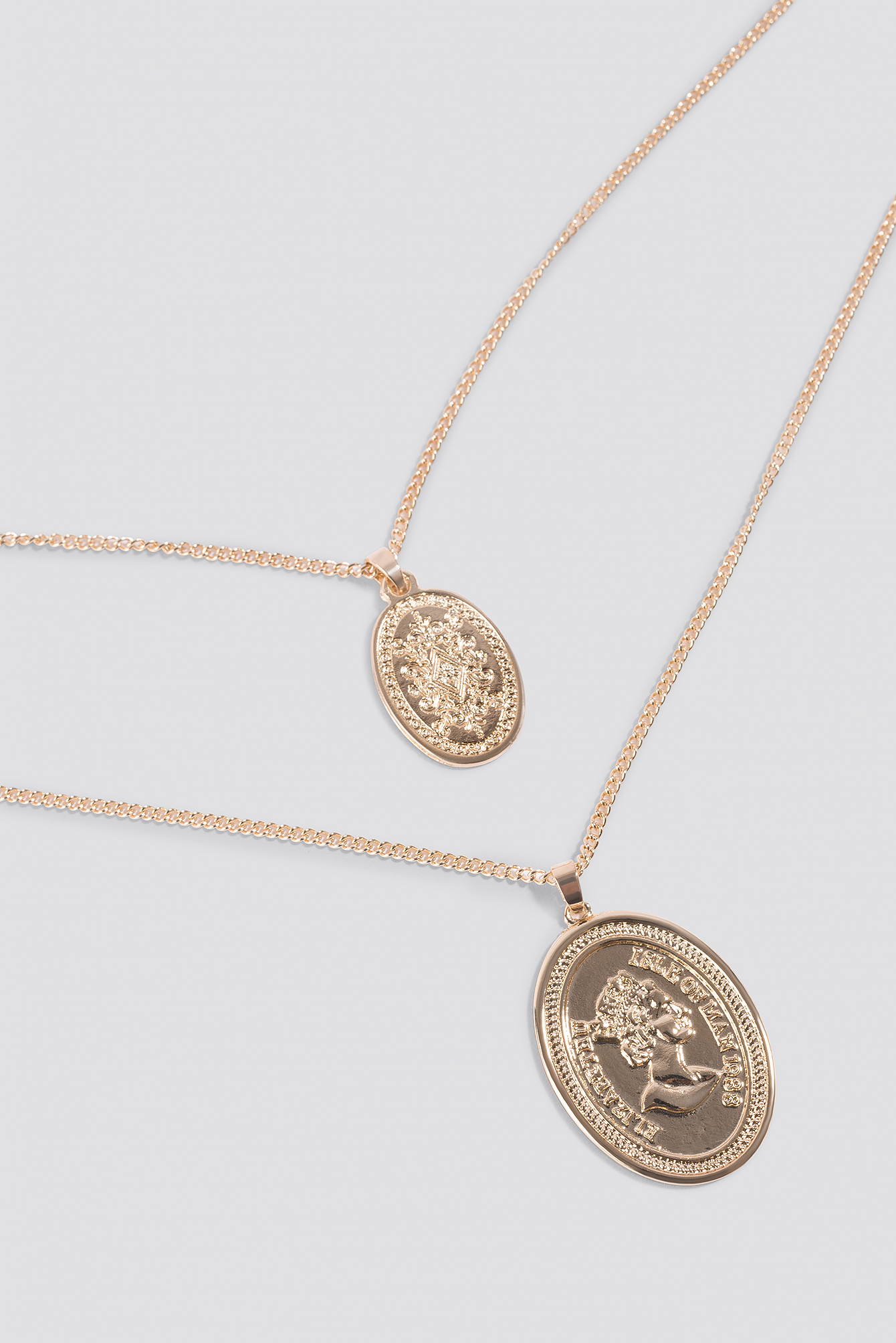 Double Oval Coin Necklace NA-KD.COM