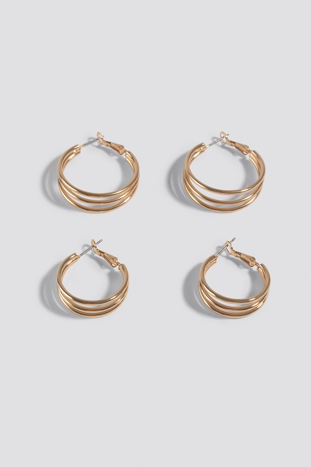 Double Pack Layered earrings NA-KD Accessories