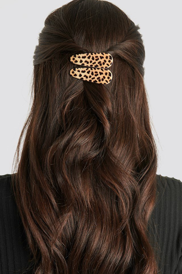 Double Pack Leopard Hairclips Leo