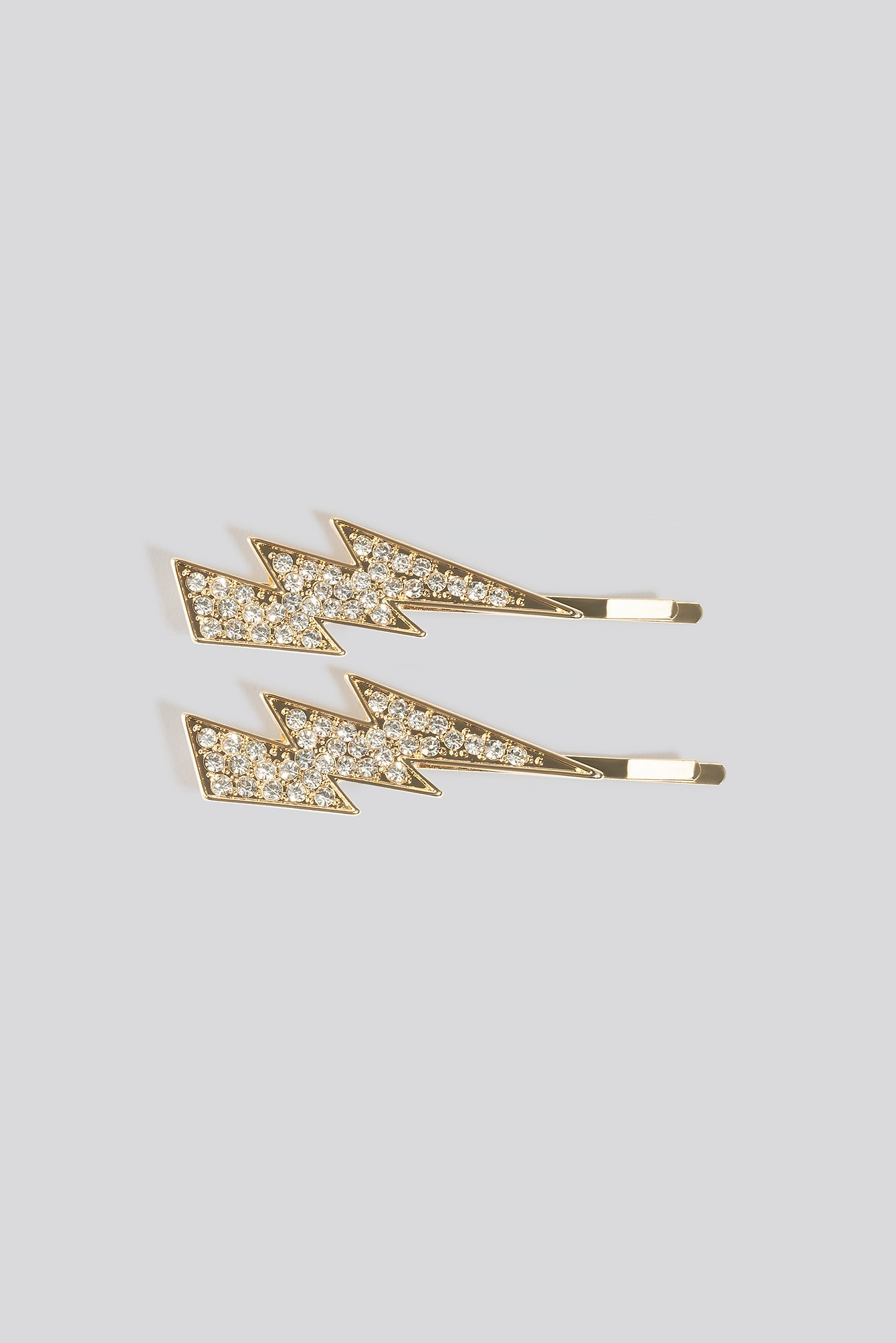na-kd accessories -  Double Pack Rhinestone Flash Hairpins - Gold