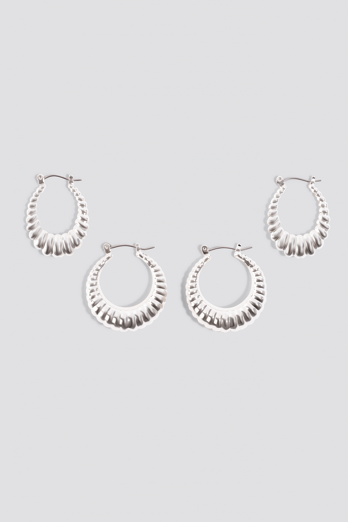 reputable site 269e4 7bcee Double Pack Small Chubby Hoops by Na Kd Accessories