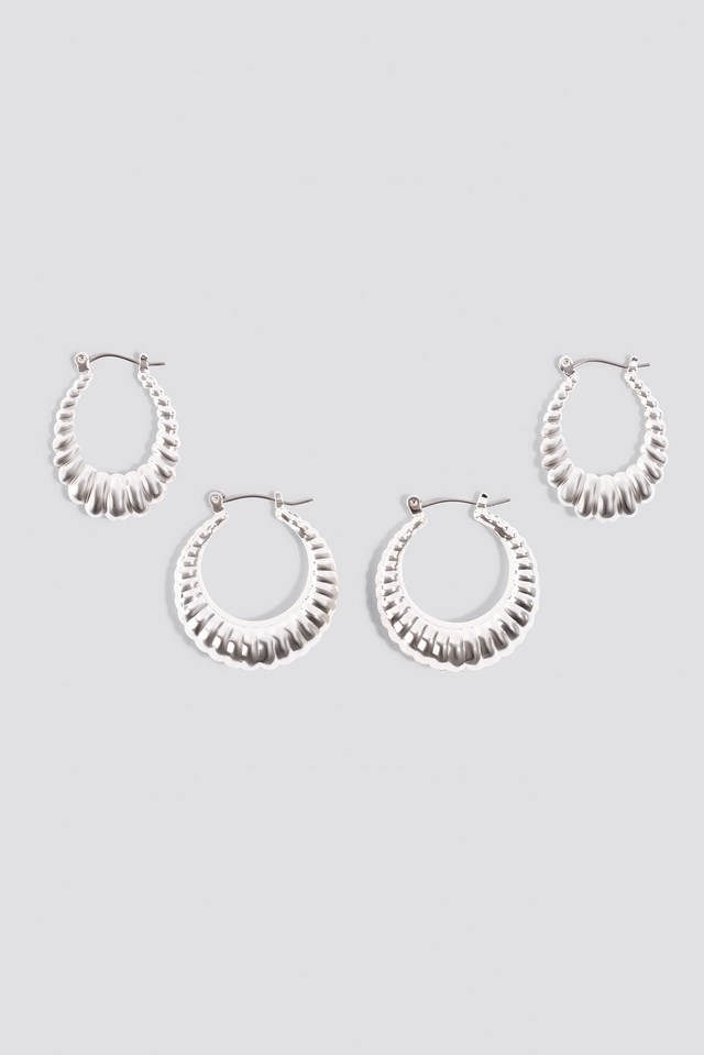 Double Pack Small Chubby Hoops NA-KD Accessories