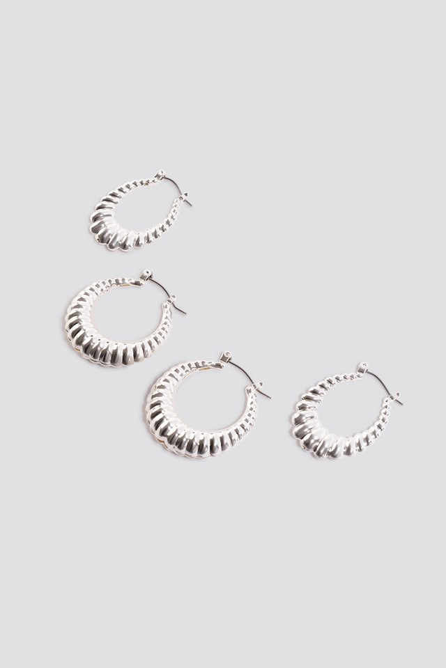 Double Pack Small Chubby Hoops NA-KD.COM