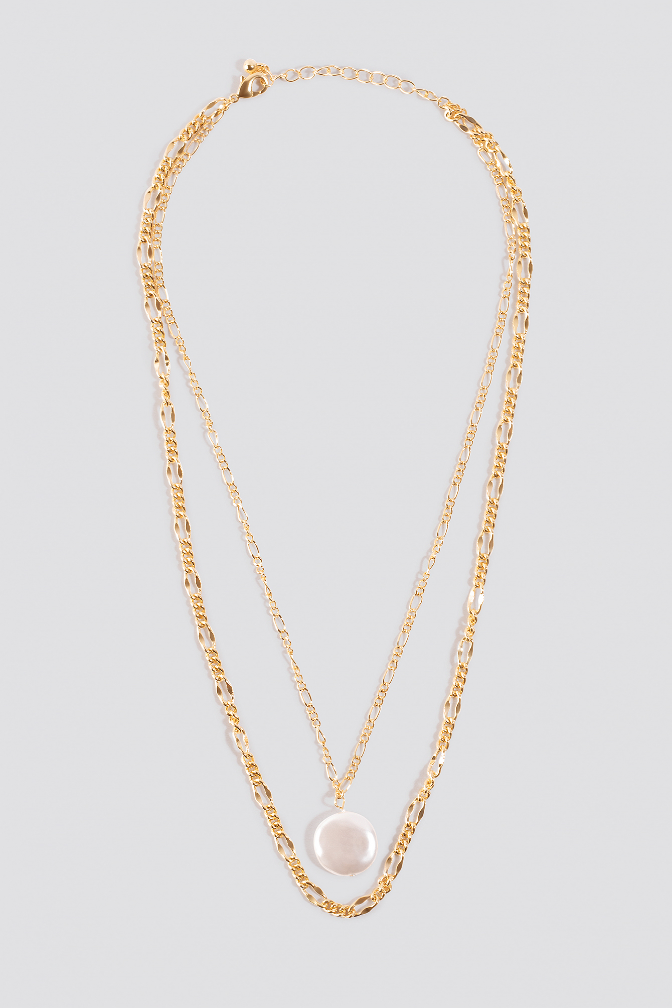 Double Pearl Pendant Necklace NA-KD.COM