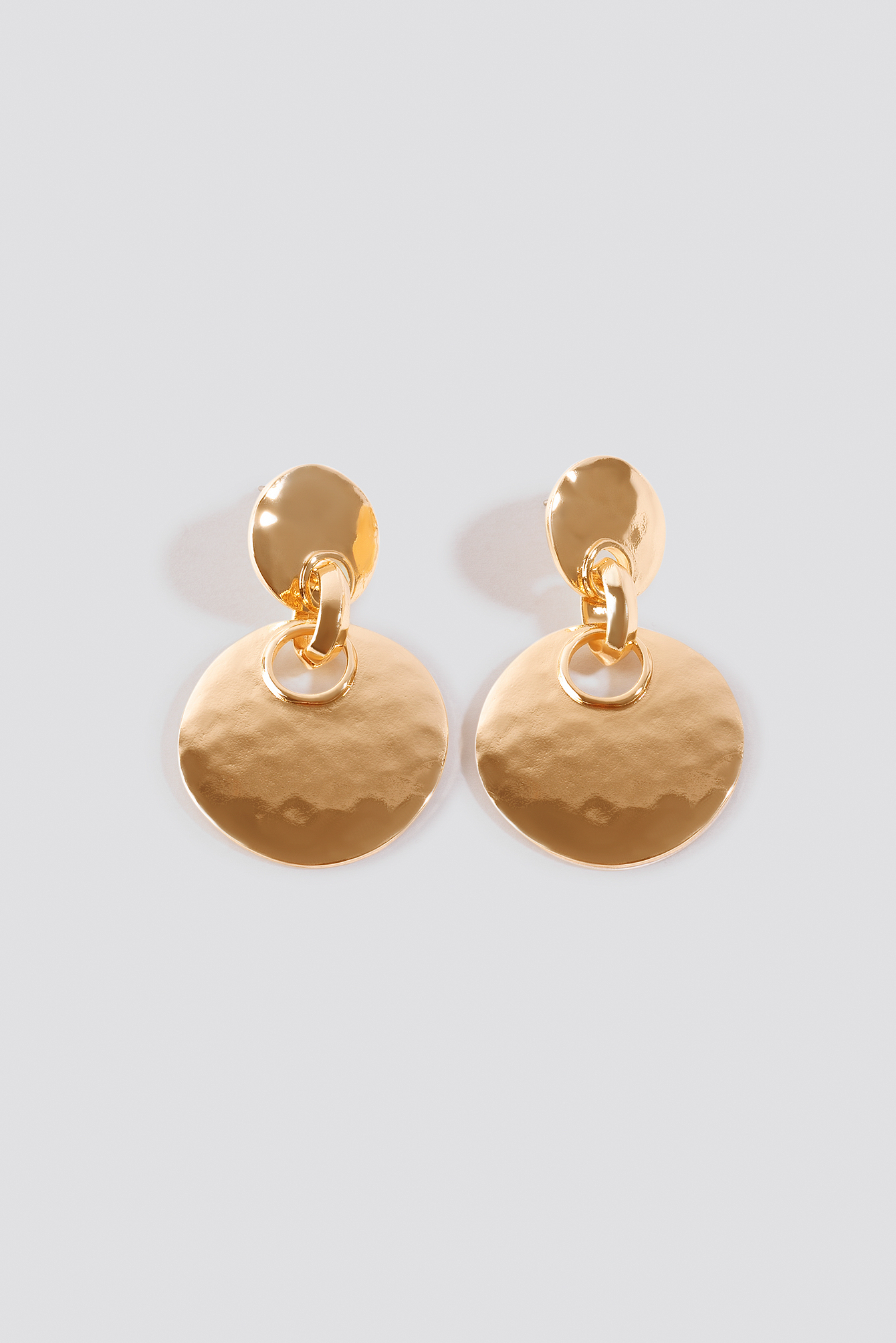 Double Plate Connected Earrings NA-KD.COM