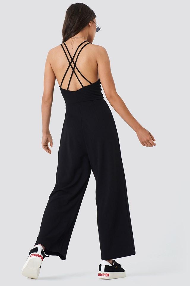 Double Strap Jumpsuit Black