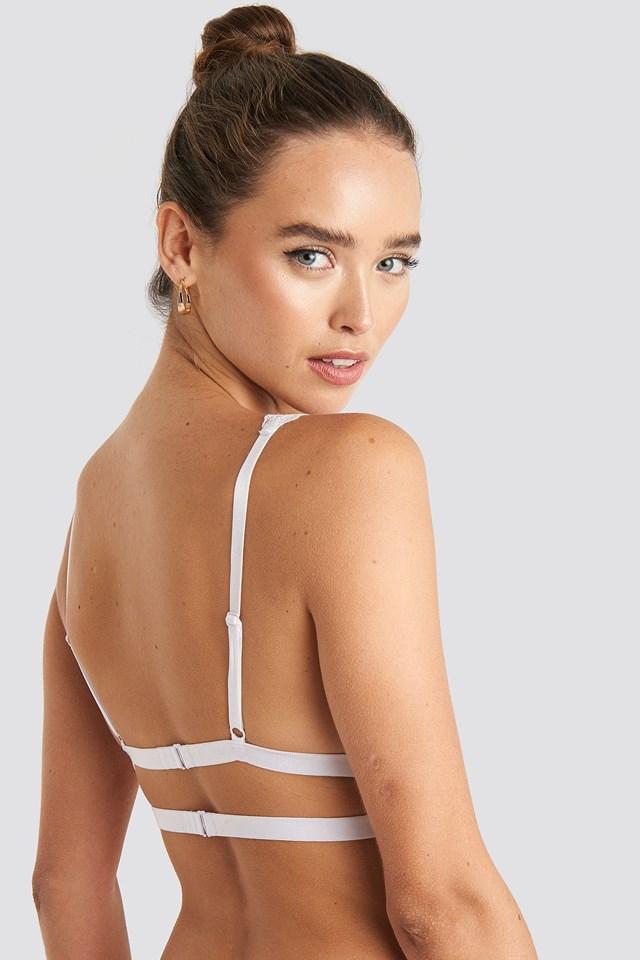 Double Elastic Lace bra White