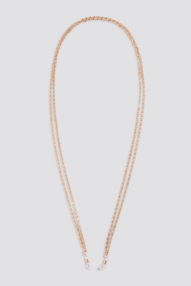 Double Structured Sunglass Chain Gold