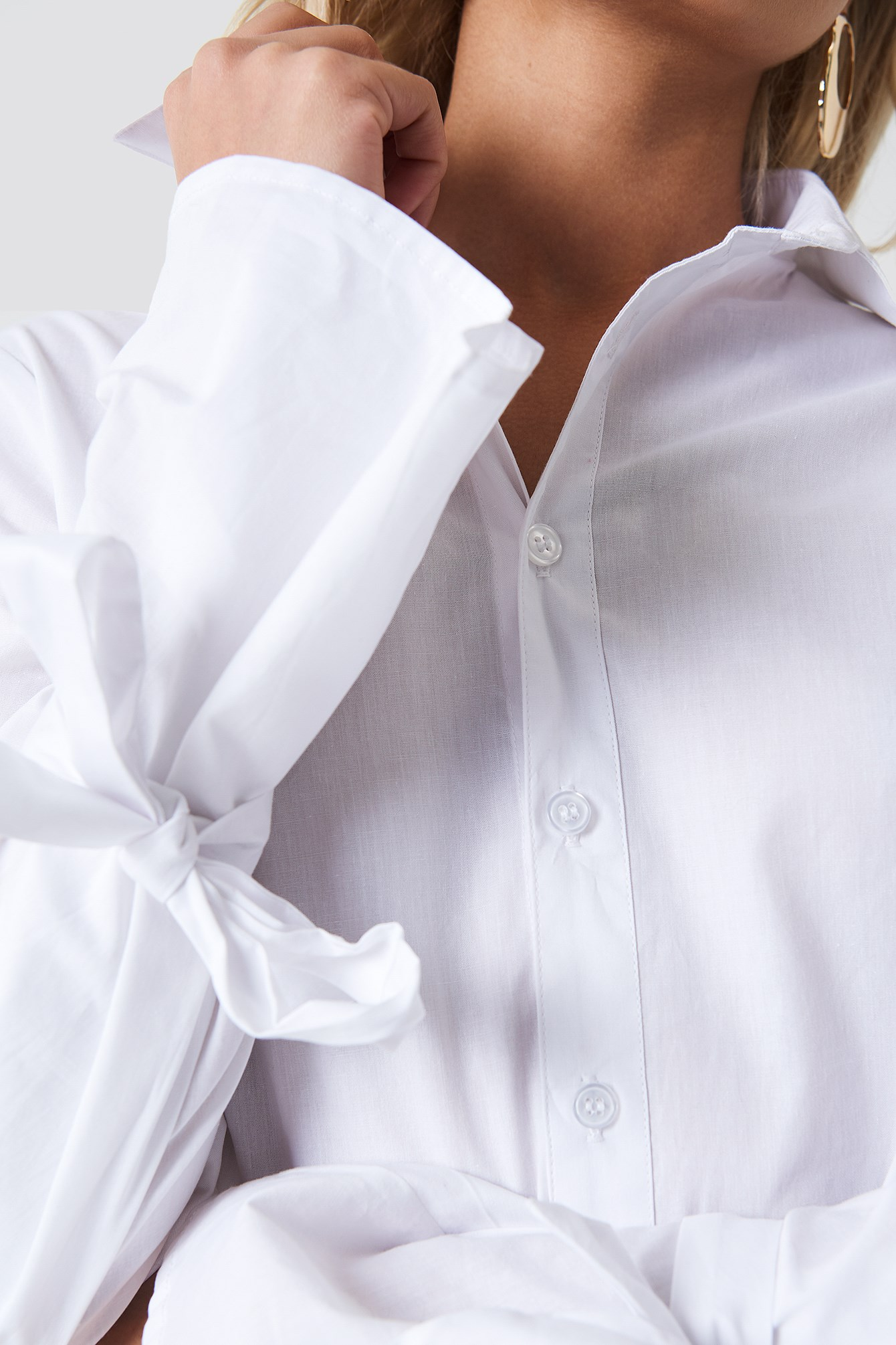 Double Tie Detail Shirt NA-KD.COM