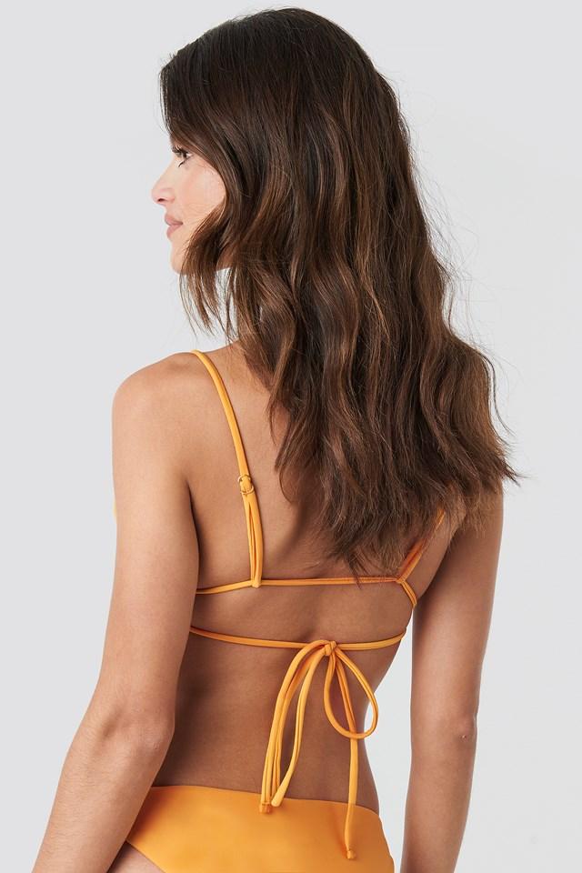 Double Tie Strap Triangle Top Mandarin