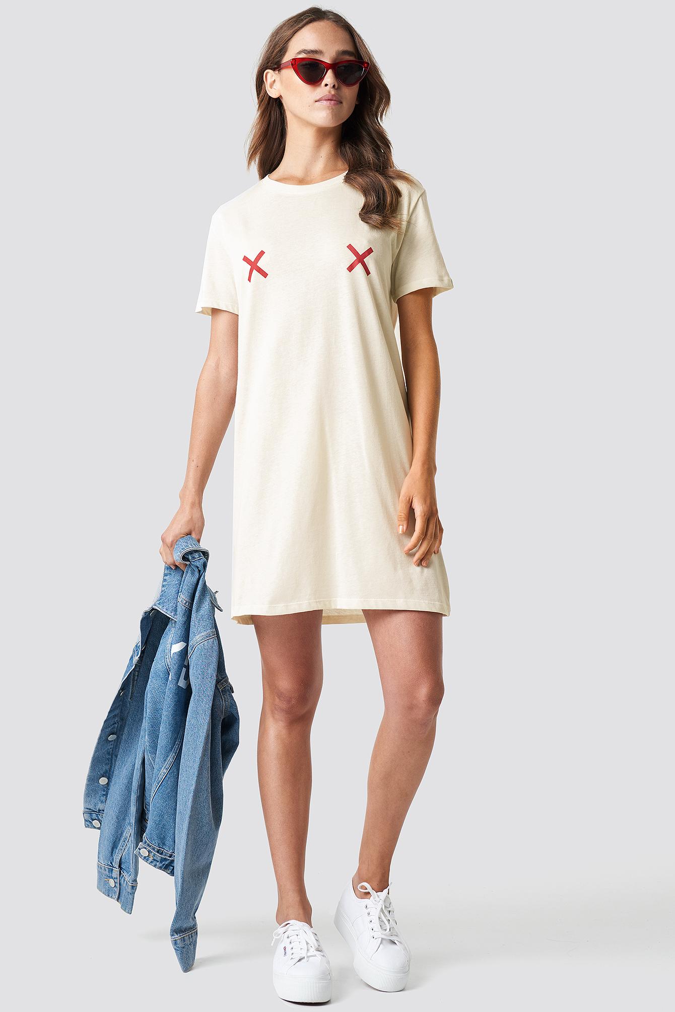 Double X T-shirt Dress NA-KD.COM