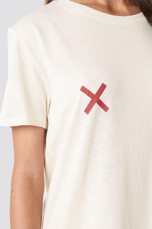 Double X T-shirt Dress Light Beige