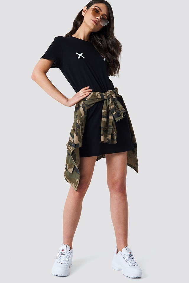 Double X T-shirt Dress NA-KD