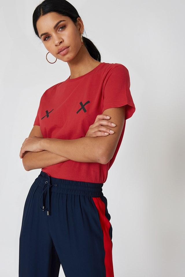 Double X Tee Red/Black