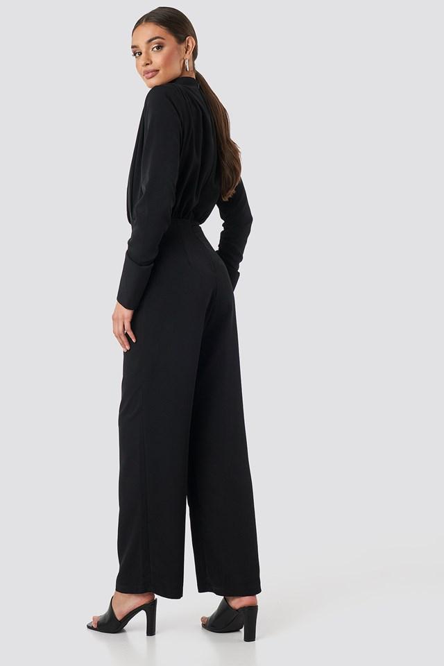 Draped Jumpsuit Black