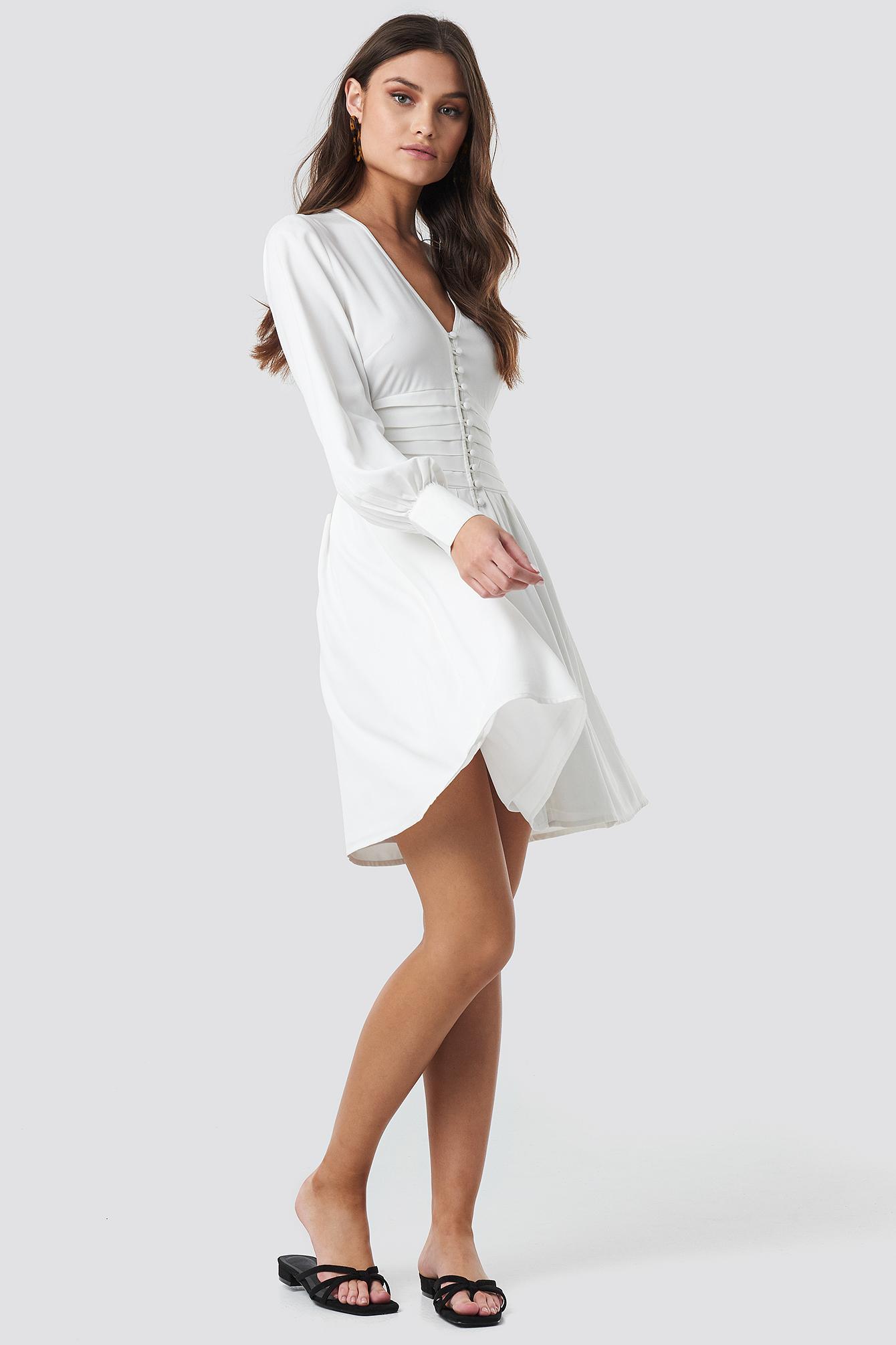 Draped Waist Button Up Dress NA-KD.COM
