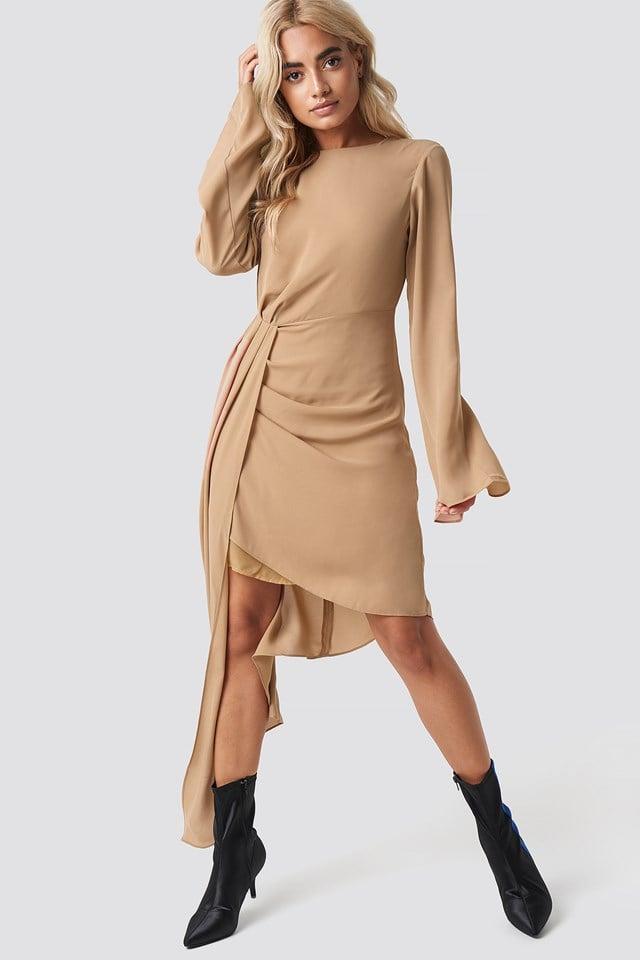 Draping Detail Asymmetric Dress NA-KD Party
