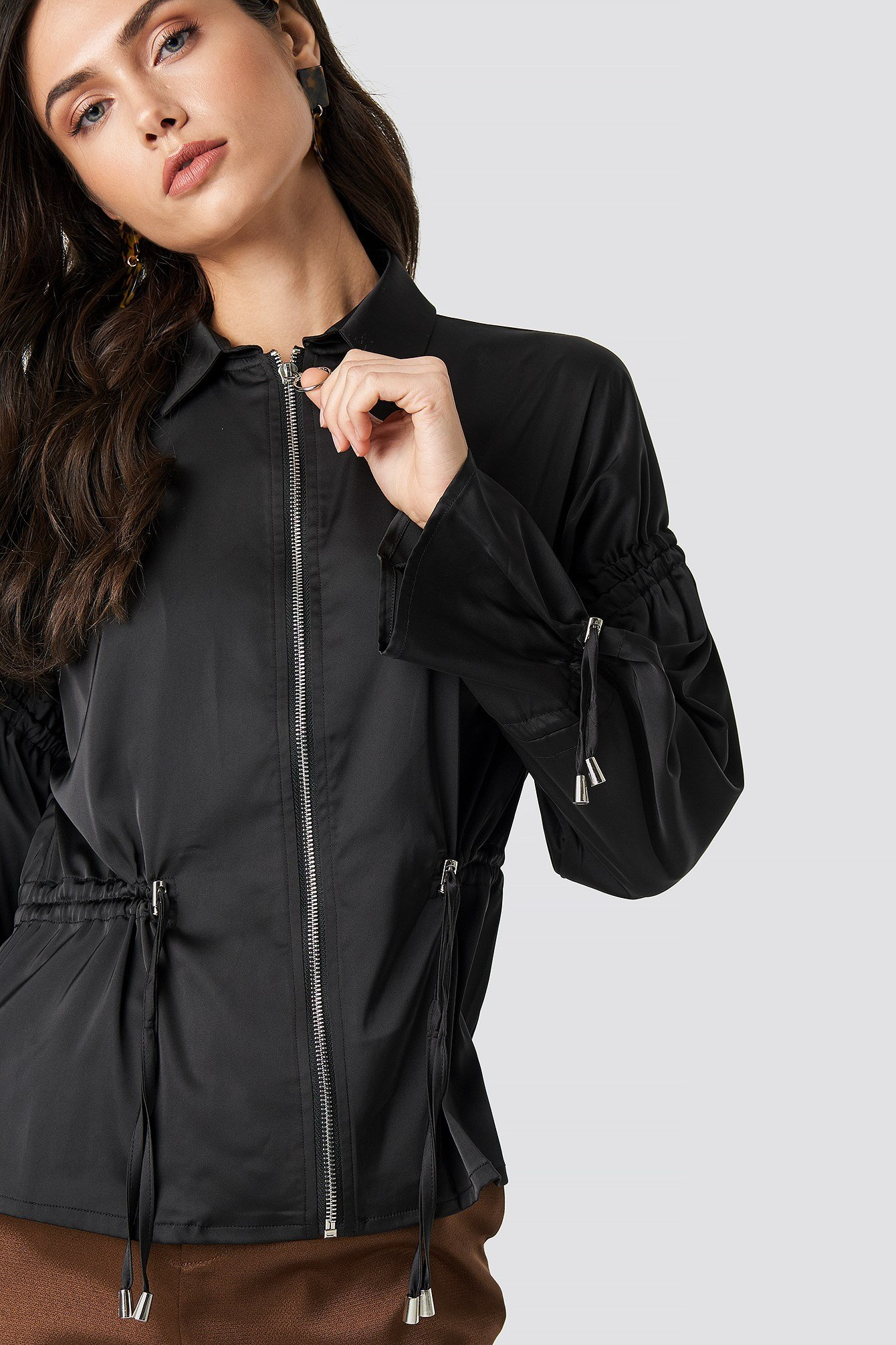 Drawstring Detailed Jacket NA-KD.COM