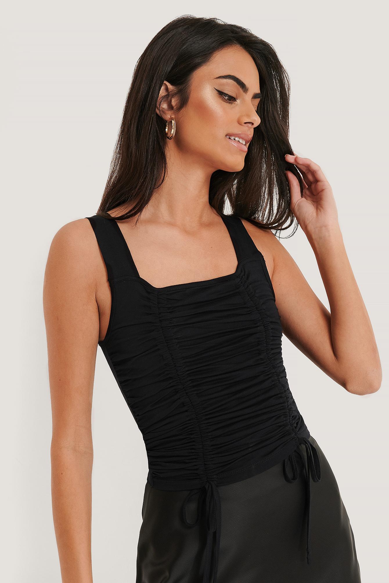 na-kd -  Jersey-Unterhemd - Black