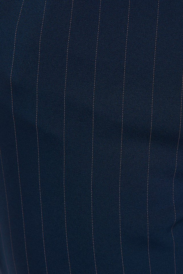 Drawstring Pinstriped Pants Navy