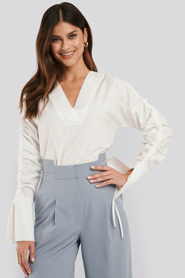 Drawstring Shirt White