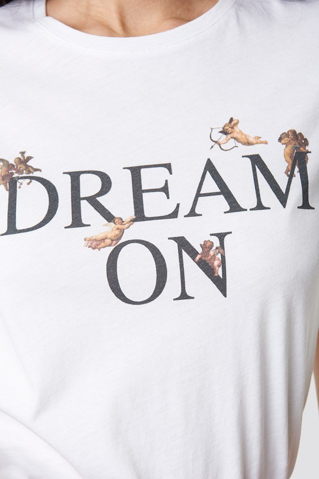 Dream On Tee White
