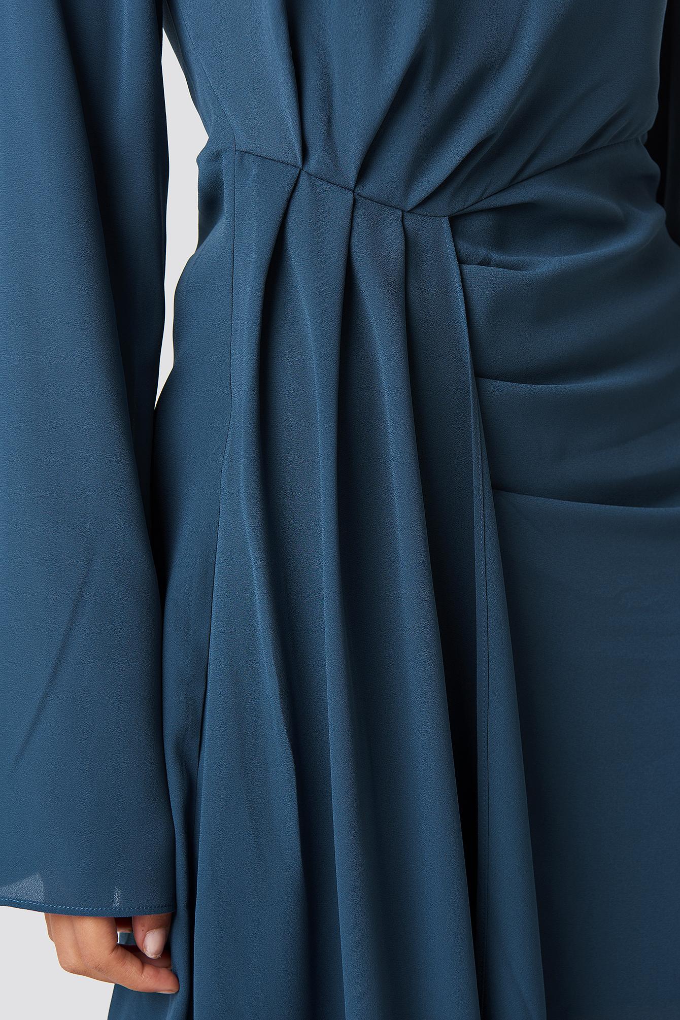 Draping Detail Asymmetric Dress NA-KD.COM