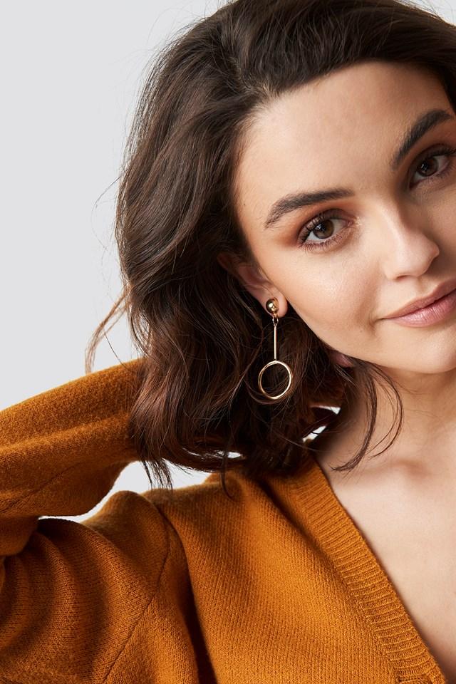 Drop Circle Earrings NA-KD Accessories