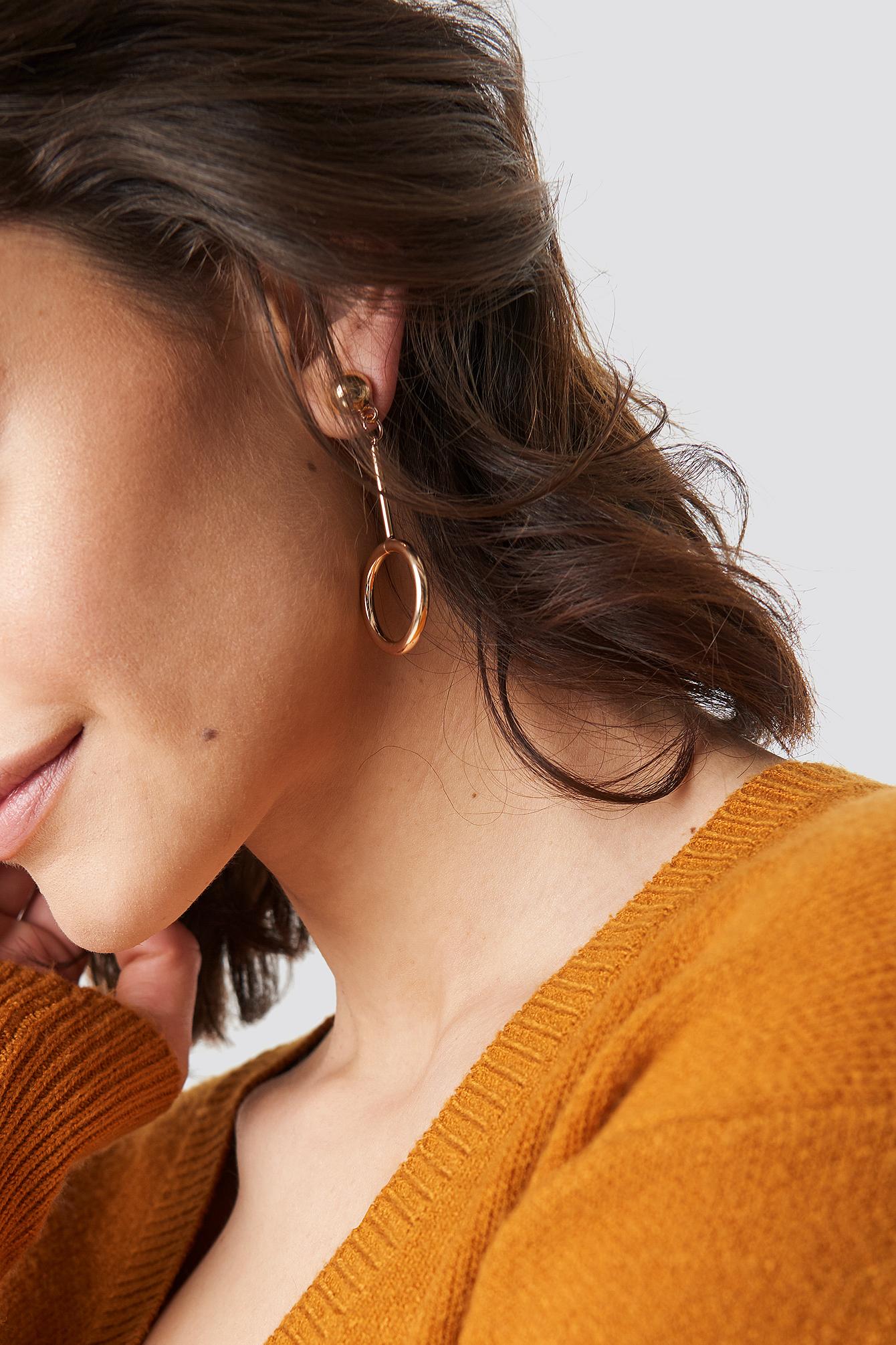 Drop Circle Earrings NA-KD.COM
