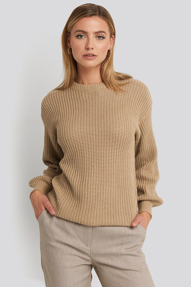 Dropped Shoulder Knitted Sweater NA-KD