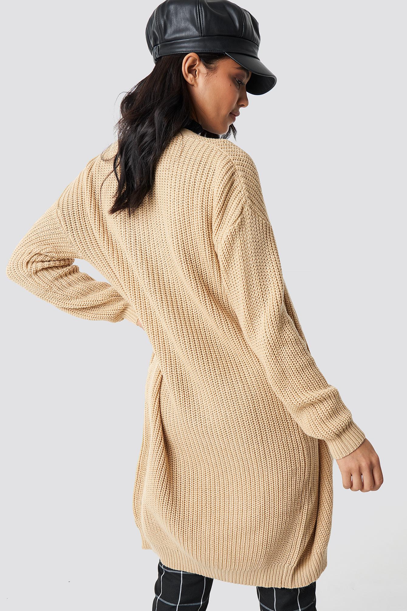 Dropped Shoulder Long Knit NA-KD.COM
