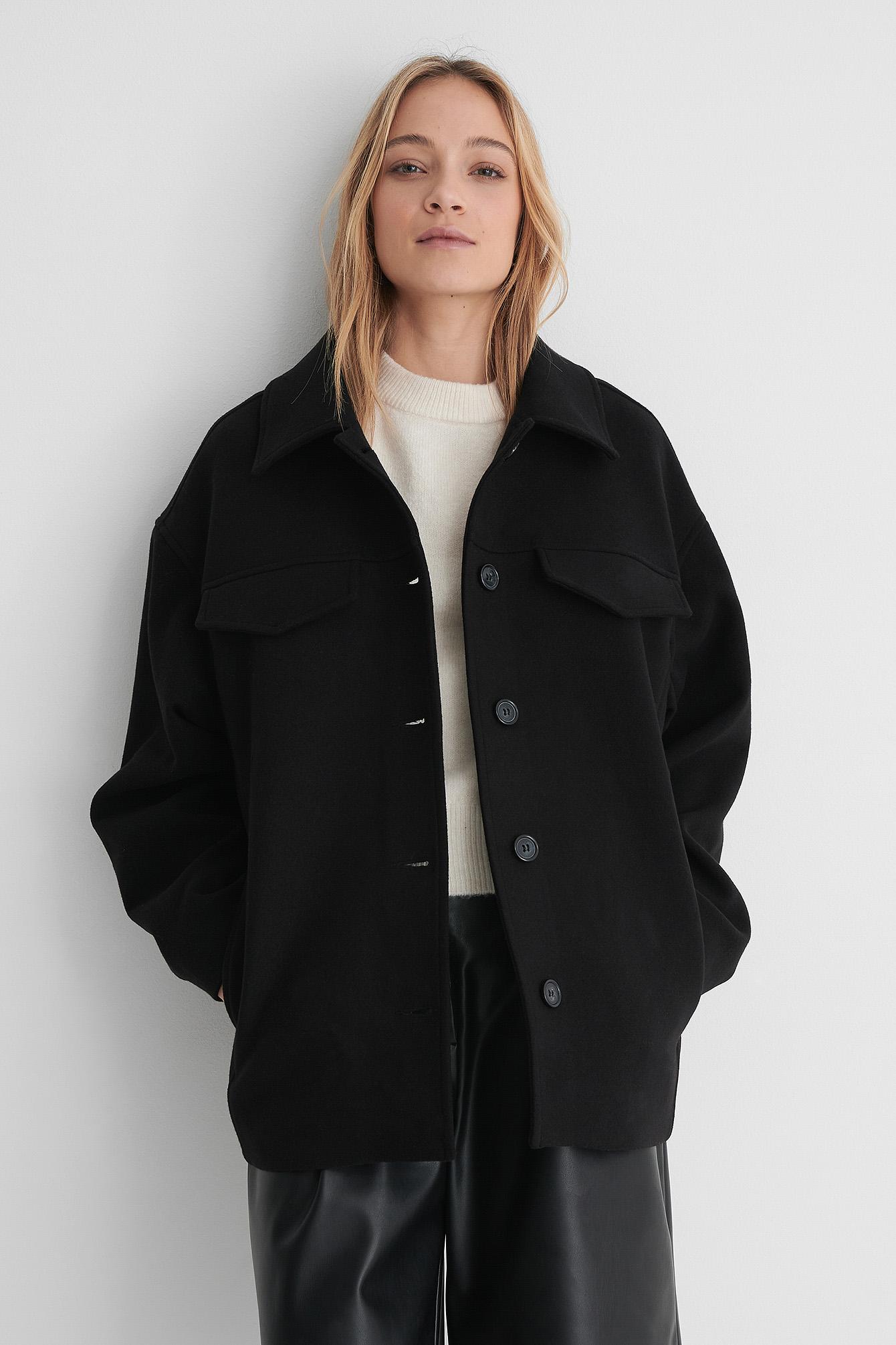 na-kd trend -  Kurzer Mantel - Black