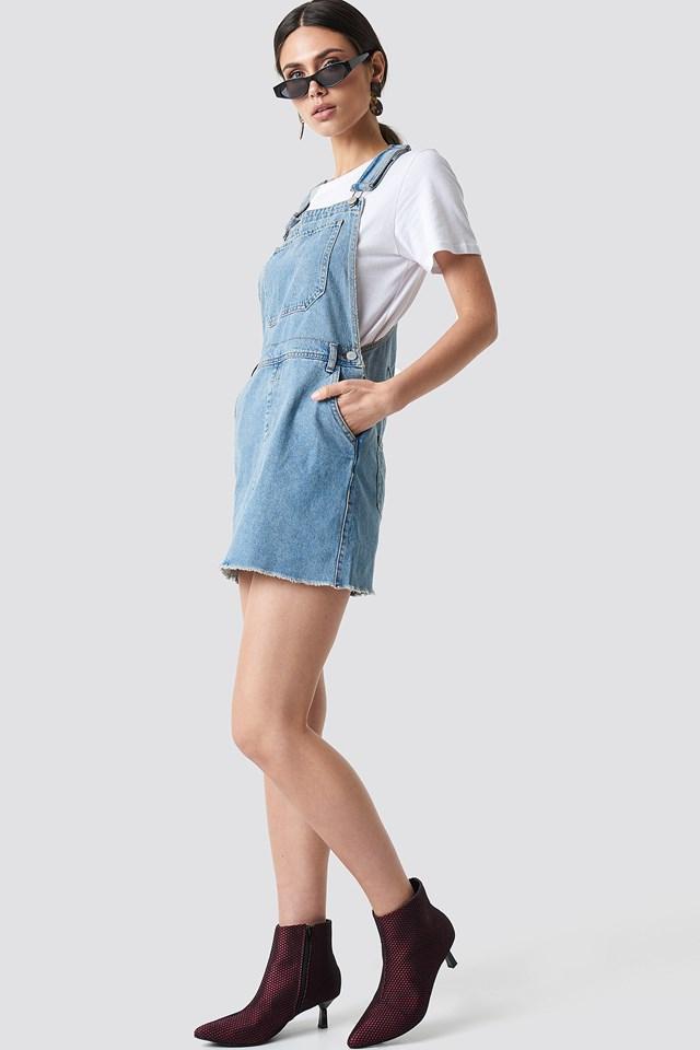 Dungaree Dress Light Blue