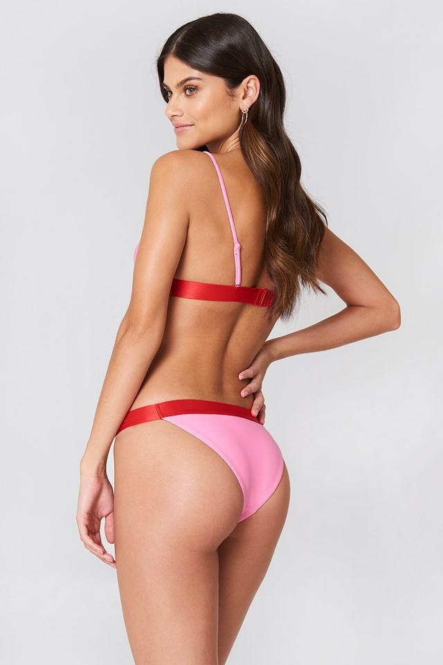 Elastic Bikini Briefs Pink