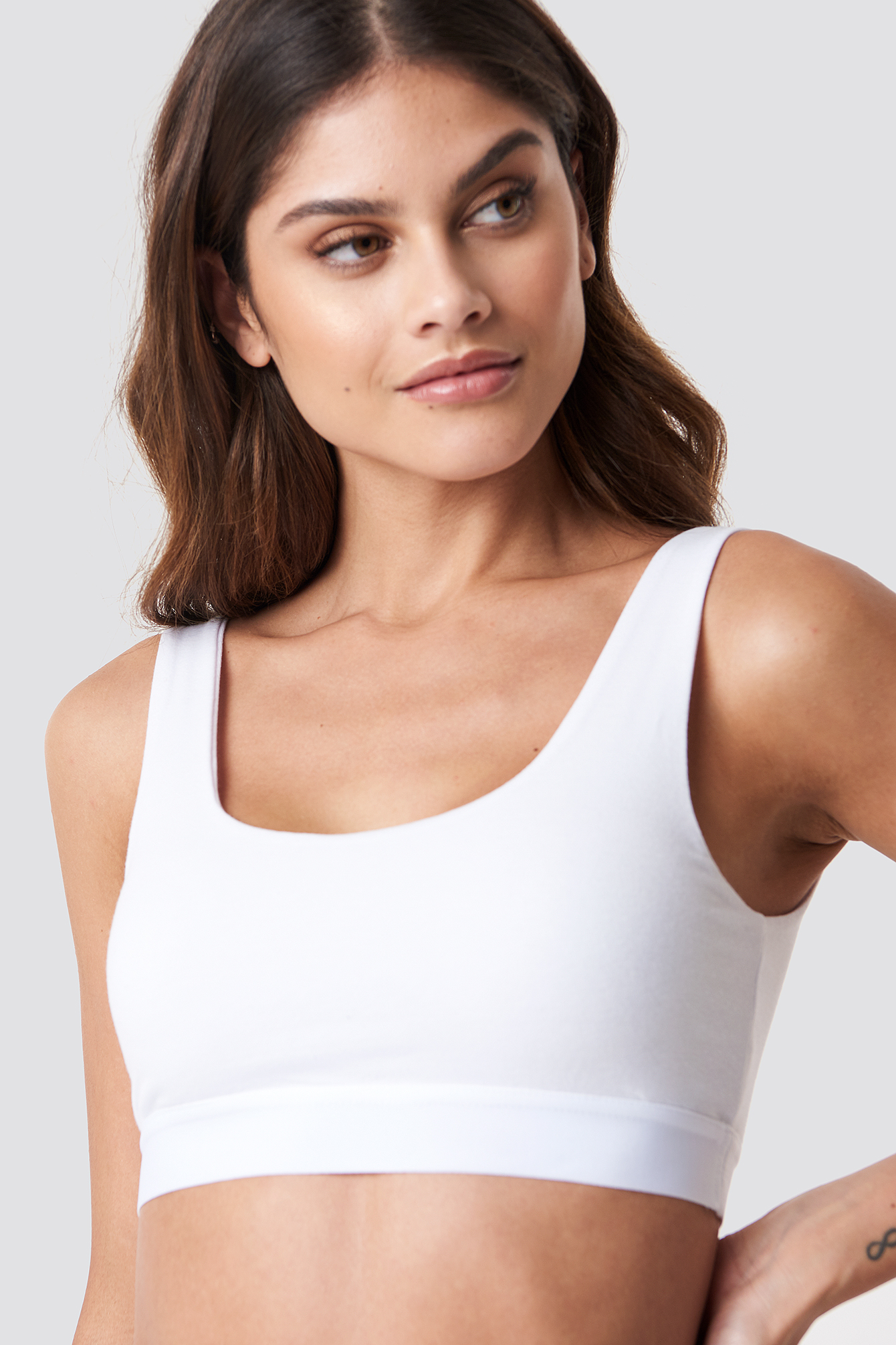 Elastic Cotton Bralette NA-KD.COM