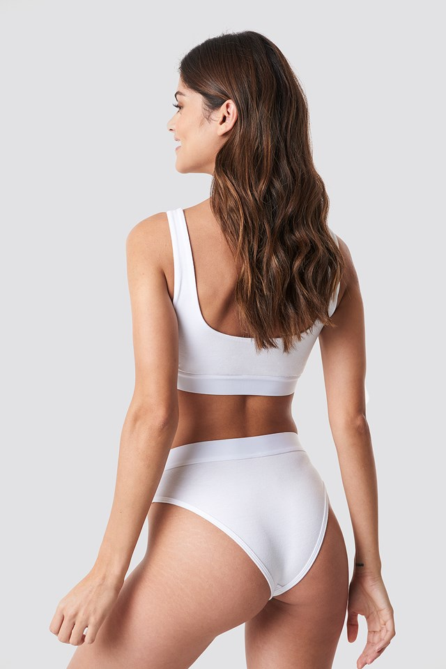 Elastic Cotton Brief White