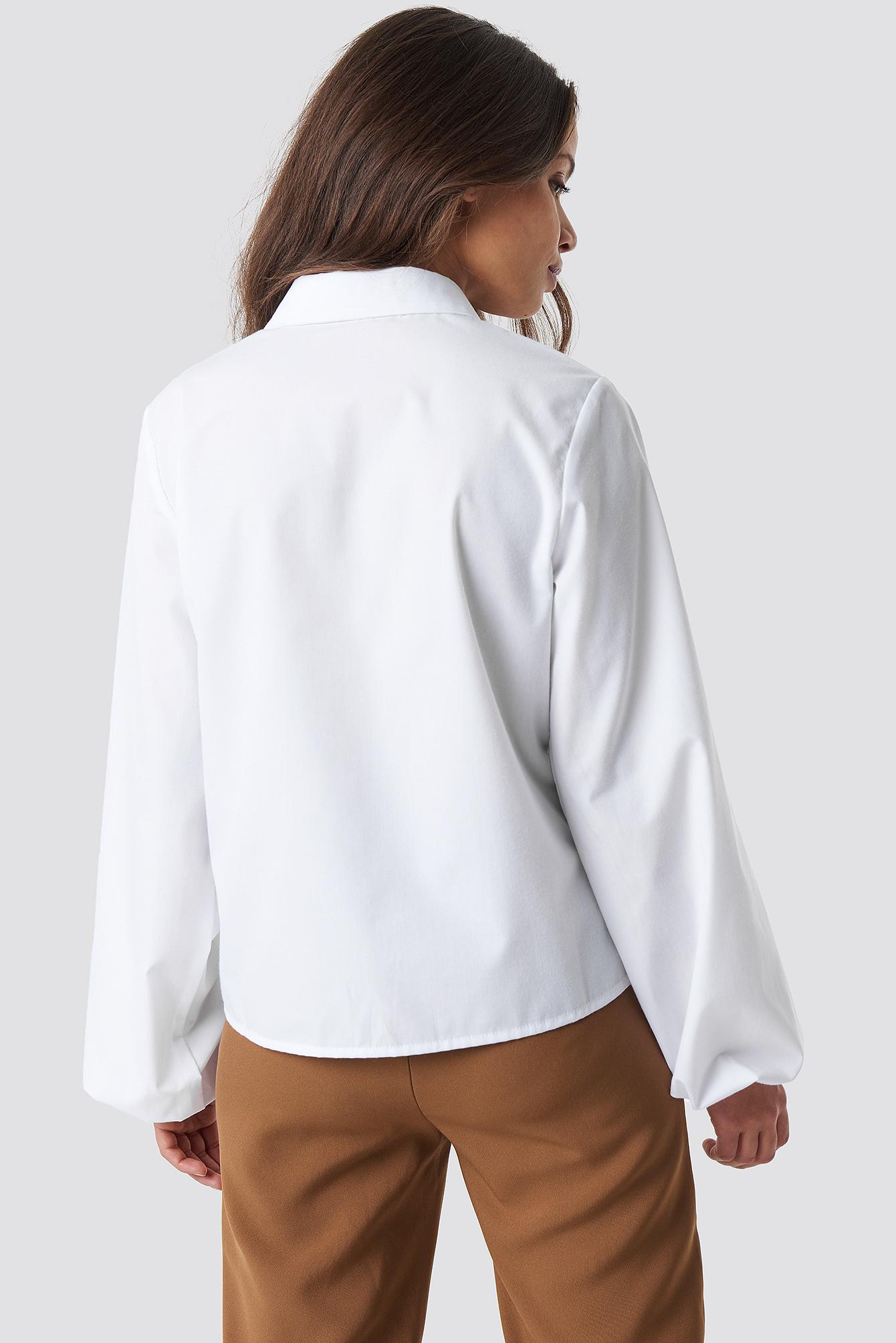 Elastic Cuff Balloon Sleeve Shirt NA-KD.COM