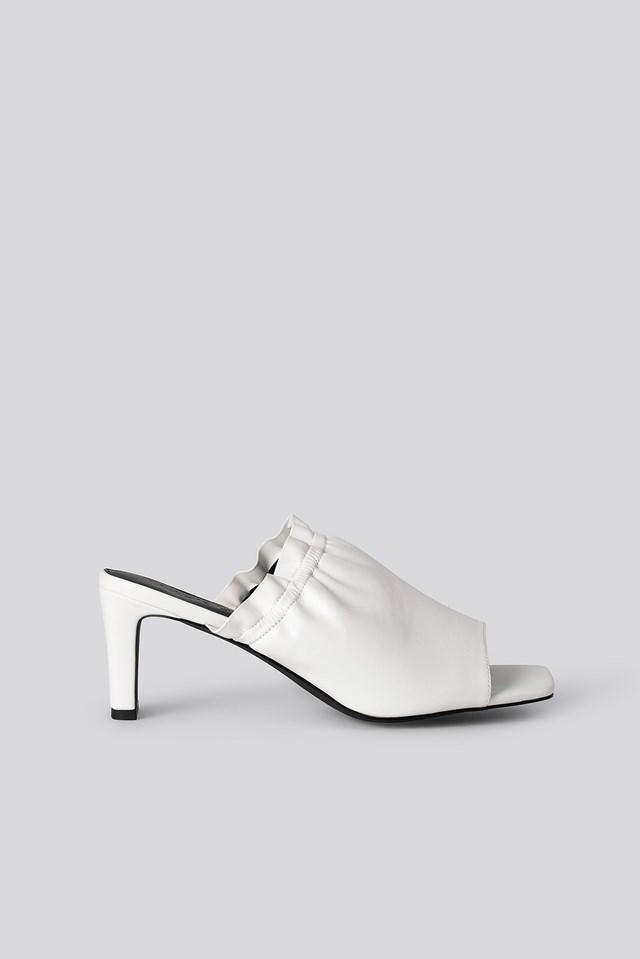 Elastic Mules White